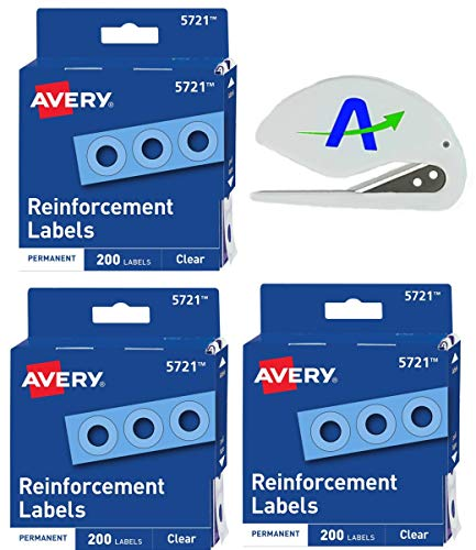 1,000 White Self-Adhesive Reinforcement Labels for Repairing and Strengthening Holes 2 Boxes of 500