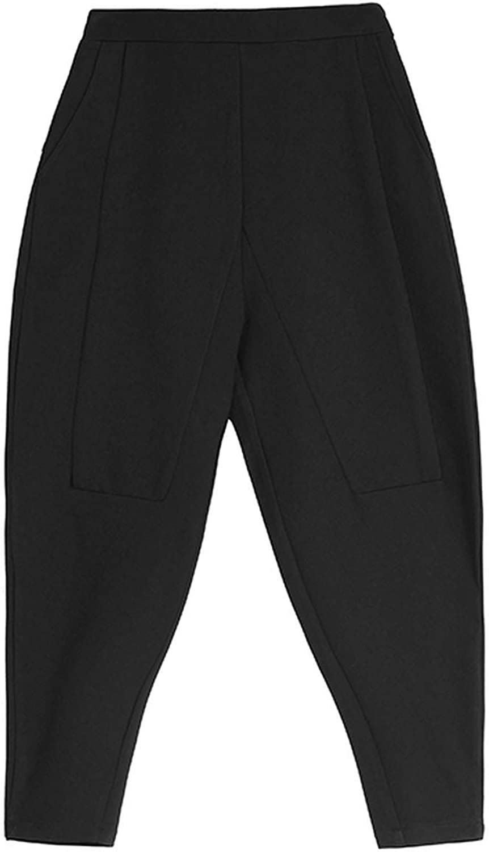 blueeshore Spring Summer Europe Loose Harem Pants Female Pocket Casual Full Length Pants
