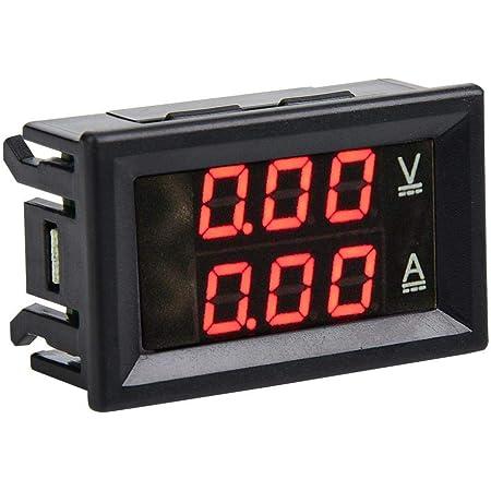 3 Stelliger Dc 0 100 V 50a 100a Voltmeter Amperemeter Messgerät Dual Led Digitalspannungs Stromzähler Rot Rot 10a Gewerbe Industrie Wissenschaft