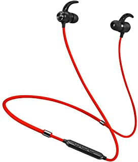 GLJJQMY Sports Bluetooth Headset New Neck-Mounted Wireless Magnetic Bluetooth Headset Bluetooth Earphone (Color : RED)