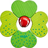 HABA Shamrock Wooden Clutching Toy with Metal Bell (Made in Germany)…