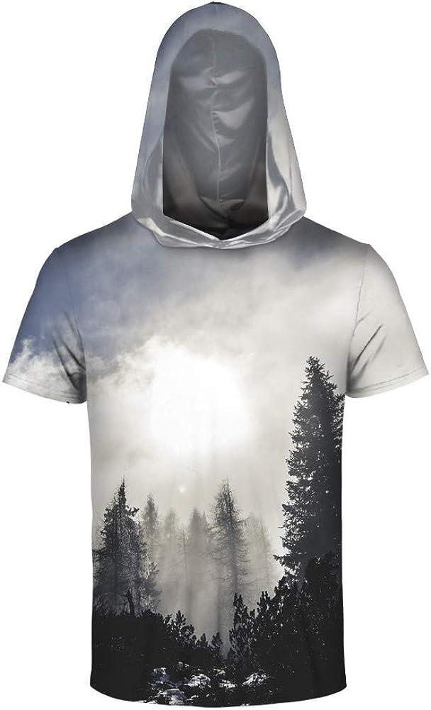 Boys 3D Printed Galaxy Pullover Sweatshirt Hoodie ShortSleeve Starry Mens Hood T Shirt Casual