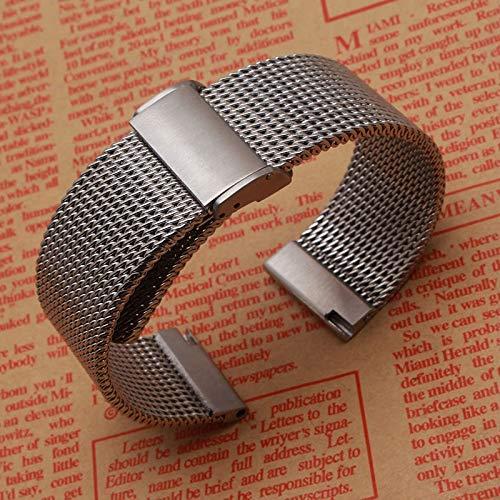 ZXF Watches Cinturini Cinturino Accessori Orologi di Moda Cinghie Bracciale 18m 20 Millimetri 22 Millimetri 24 Millimetri Shark Maglia del Metallo dell Acciaio Inossidabile Nero