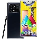Teléfono Móvil Libre 4G, Note25+ Android 10.0, Dual Sim Smartphone Desbloqueado, Pantalla 6.8 Inch FHD con batería de 5000Mah, 32GB ROM, Cámara 16MP+32MP,Negro