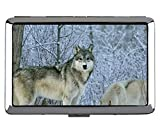 Creative Storage Case, Animal Wolf Women Nombre Titular de la Tarjeta