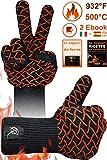 CR Essential Guanti da Forno e per Barbecue in Kevlar Resistenti Fino a 500° - Protezione...