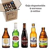 Caja degustación 9 cervezas especiales con 5 estilos, perfecta para...
