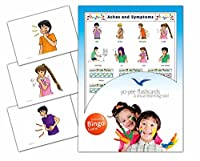 Aches and Symptoms Flashcards in English with Matching Bingo Game Cards in One Set - Vocabulary Picture Cards for Toddlers, Kids, Children and Adults - Size 4.13 × 5.83 in - DIN A6