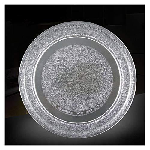 YMHAN 24.5 Cm Flat Plate Microwave Glass Dish Microwave Turntable Glass Tray