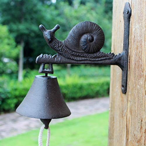 CKH Vintage Cast Iron Snail Deurbel Europeo en Americano Country Courtyard Bar Cafe Bell