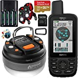 Garmin GPSMAP 66sr Handheld Outdoor GPS with U.S. & Canada Maps Birdseye Satellite Imagery GNSS Multi-Band Rugged Bundle w/Deco Gear Emergency Bracelet 2pk + Camping LED Lantern + Rechargeable AA Kit