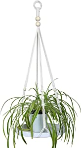 UL Source Macrame Planter Hanger with Large Tray 100% Handmade Wall Hanging Plants Bracket for Indoor Plants Home Decor Gift