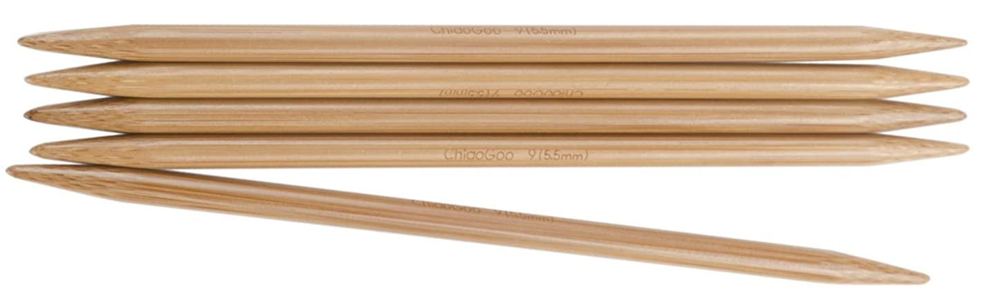 CHIAOGOO 6-Inch Double Point Knitting Needles, 3/3.25mm, Set of 5
