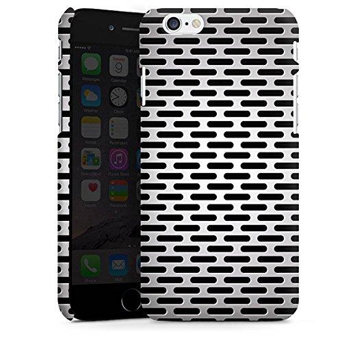 DeinDesign Custodia Premium Compatibile con Apple iPhone 6 Cover per Smartphone Custodia Opaca Buchi Metallo Acciaio