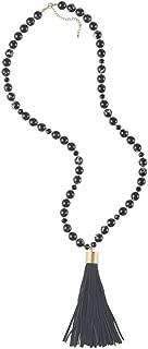 Genuine Suede Tassel Necklace