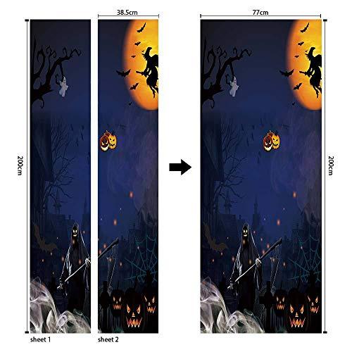 Sticker, stereo, Halloween, zelfklevend, 3D, deur, zelfklevend, voor wand, om op te plakken, slaapkamer, woonkamer, knutselen, behang