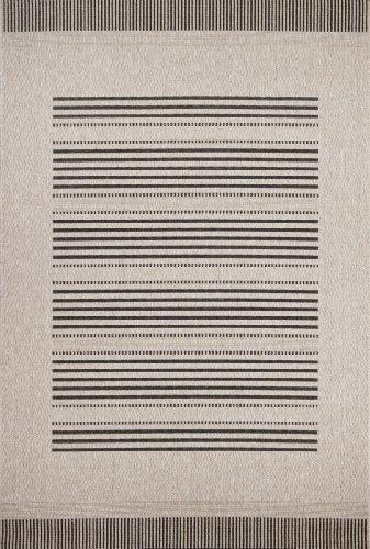 Kayoom Designer plat geweven tapijt Zweden - Stockholm zilver met sisal look, grootte: 160x230cm