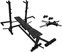 Madhrun 8 in 1 Home Gym Equipment of 8 in 1 Bench for Muscle Exercise and Preacher for Exercise Free Dumbell Rod