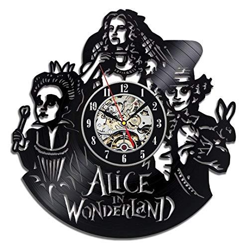 Meet Beauty Reloj de Pared para Disco Vinilo Alice in Wonder–Hecho en la Main-Cadeau única para Navidad San Valentín y día de la Madre