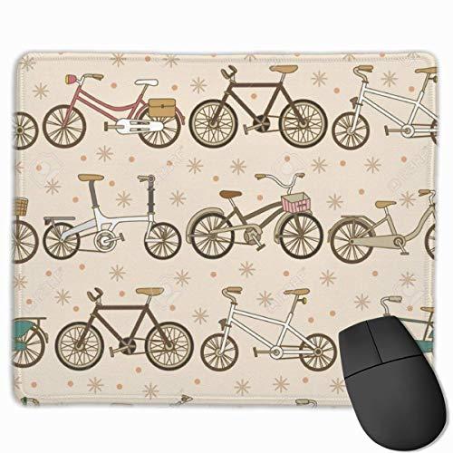 VintgaTandem Fahrrad Rechteckiges rutschfestes Gaming-Mauspad Tastatur Gummi-Mauspad für Heim- und Büro-Laptops