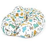 Bamibi® Coussin d'allaitement et Coussin de Grossesse pour Dormir Polyvalent + Cale-bébé, Taie 100% Coton Amovible et Lavable (Animaux)