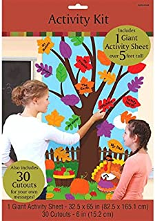 amscan Thanksgiving Tree Door Activity Kit for Parties