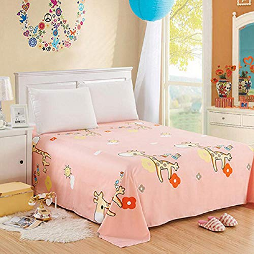 zlzty Polyester Cotton Cartoon Sheet Mattress Cover Bedding Linens,Brushed Cotton Fitted Shee,Bed Sheets Cotton Double Bed Set,Fitted Sheets@F