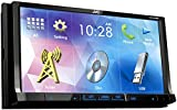 "7"" Double DIN DVD Receiver with Built-In Bluetooth, USB, and iPhone/Android Controls"