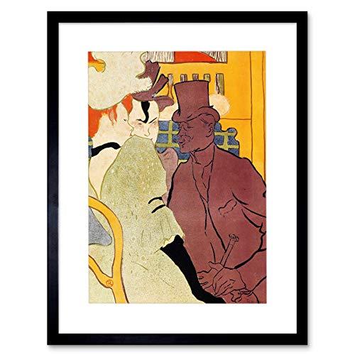 Wee Blue Coo Lautrec Engels Man Moulin Rouge Schilderij Foto Ingelijst Muur Art Print