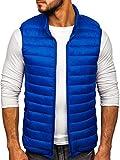 BOLF Hombre Chaleco Guateado Cierre de Cremallera Cuello Elevado Estilo Deportivo J.Style LY32 Azul XL [4D4]
