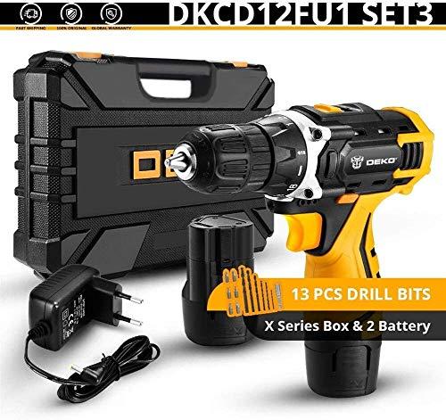 Dmqpp Elektrowerkzeuge Elektroschrauber 12V Loner 16V Makita Akkuschrauber 12V Mini Wireless Power Treiber DC Drill Lithium-Ionen-Akkus 3/8-Zoll Bosch (Color : Banger 12v Set3)