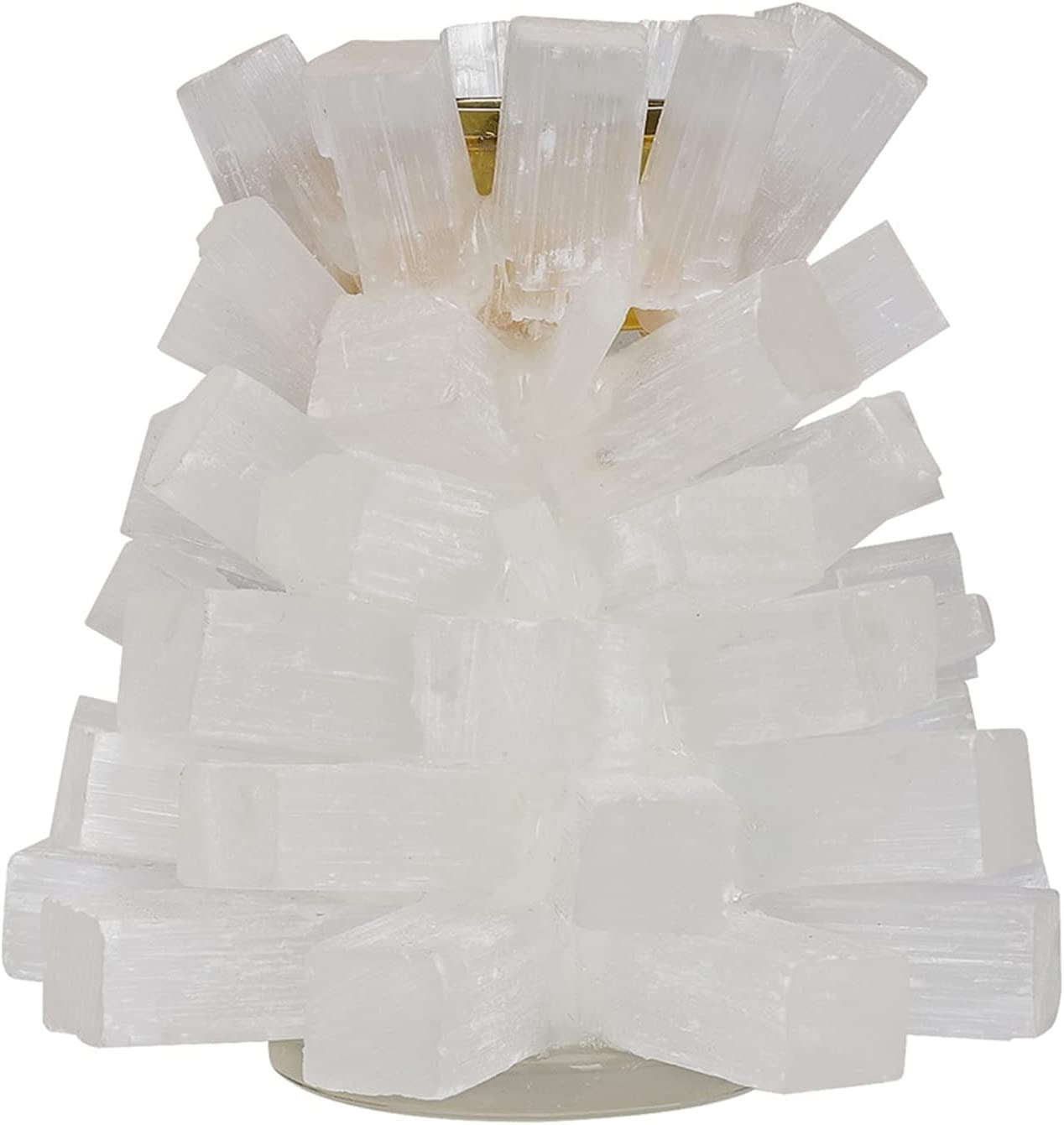 MAXIAOTONG Discount is also underway 1pcs Superior Natural Selenite Candle Holders Stickers