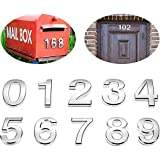 20 Pieces Mailbox Numbers 0-9 Address Numbers Self Adhesive Door Numbers Reflective Mailbox Numbers for House Mailbox (2 Inch, Silver)