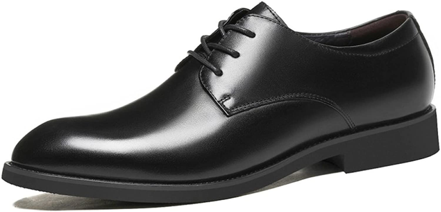 SHANHEYY Mens Lace Ups Derbys Real Leather Oxford Business Suit shoes Brogues Formal shoes