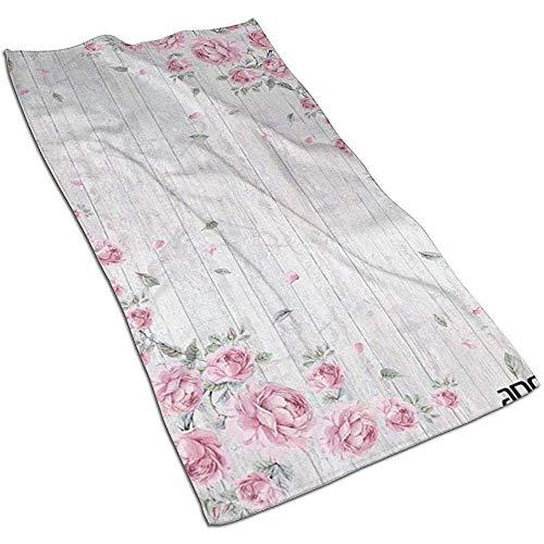 Houten Plank Textuur Rose Microvezel Handdoeken Polyester Persoonlijkheid Grappig Patroon Super Absorbens voor badkamer, Keuken, Wash Auto, Schoonmaken Handdoek