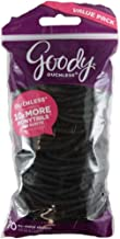 Goody Ouchless Elastic Hair Bands, No-metal, Black, 70 count