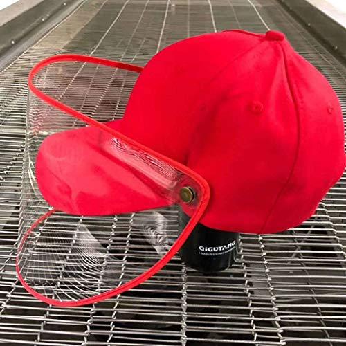 Tragbar Schutzkappe für Erwachsene, Einfach Zu Zerlegende Maske Anti-fog Maske Draussen Fischerhut Baseballmütze Strand Sonnenhut-C