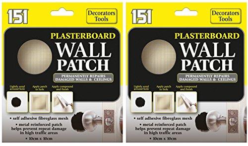2 x 151 gipsplaat muur patch repareert beschadigde muren en plafonds