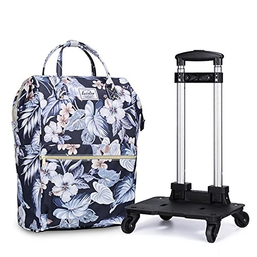 Travel Bag Luggage Bag Travel Duffle Trolley Bag Rolling Suitcase Trolley Women Men Travel Bags with Wheel Carry-On Bag