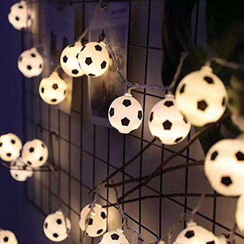 Guirnalda de luces LED de 3 m con 20 ledes, para la noche, para fútbol, para decoración de niños, dormitorio, fiestas, vacaciones, etc.