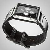 Minimal LLBLK-017 Chicago Collection LunaTik - Correa de cuero para Apple iPod nano 6G, color negro