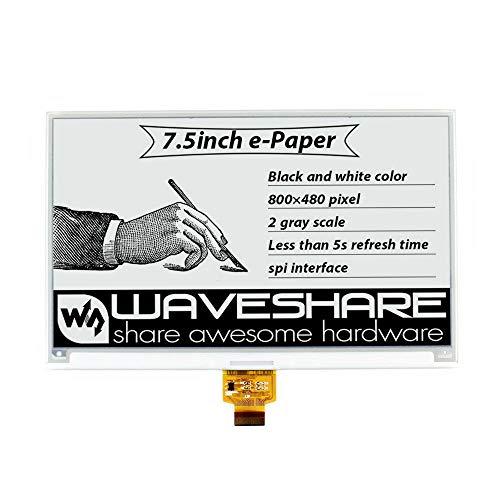 JCCOZ-URG 7.5 Inch Ink Screen Barren Screen E-paper Display SPI Interface Black&White 800x480 URG