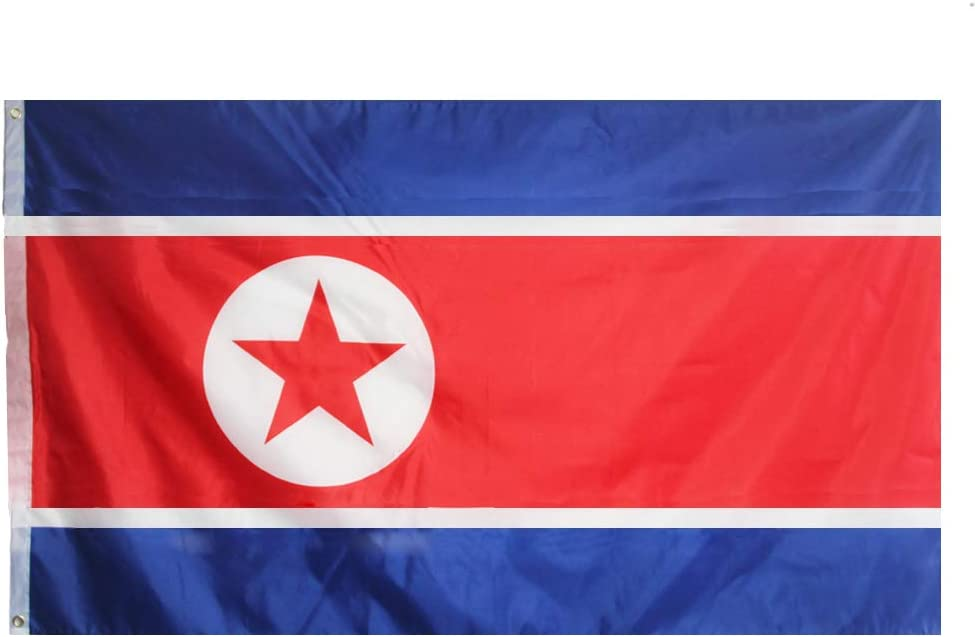 ANJOR North Korea Flag 3x5 Foot North Korean National Flags with Brass Grommets 3 X 5 Ft