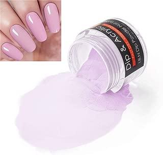 2 In 1 Nail Dip Powder & Acrylic Powder Pink (Added Vitamin and Calcium) I.B.N Dipping Powder Color 1 Ounce, Non-Toxic & Odor-Free, No Need Nail Lamp Dryer (61)