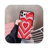 iPhone 12ミニ7 11 Pro XR XS MAX X 8 SE 2020 6プラスファッションシリコーンハードカバーファンダス -Style 4-For iphone 8 Plus