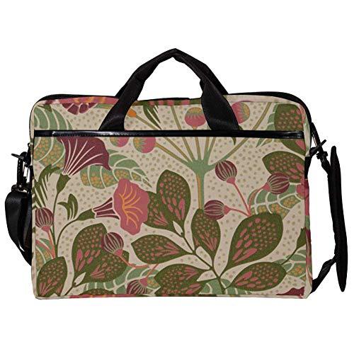 TIZORAX Laptop Messenger Schultertasche Vintage Flower Wallpaper Computer Schutzhülle Notebook-Tragetasche 15-15,4 Zoll Handtasche