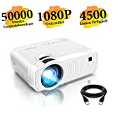 Mini Beamer, ELEPHAS 4500 Lumen Tragbarer LED...