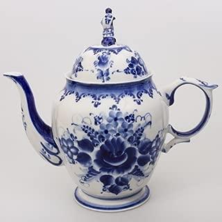 Gzhel Porcelain Teapot 'Liza' 1.9 Liters