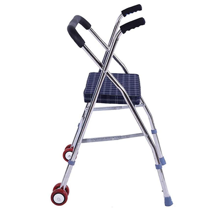 小屋ふざけた人生を作る年配の歩行者、ステンレス鋼の動かされた歩行者調節可能な高さの折り畳み式の軽量の歩行者補助歩行者