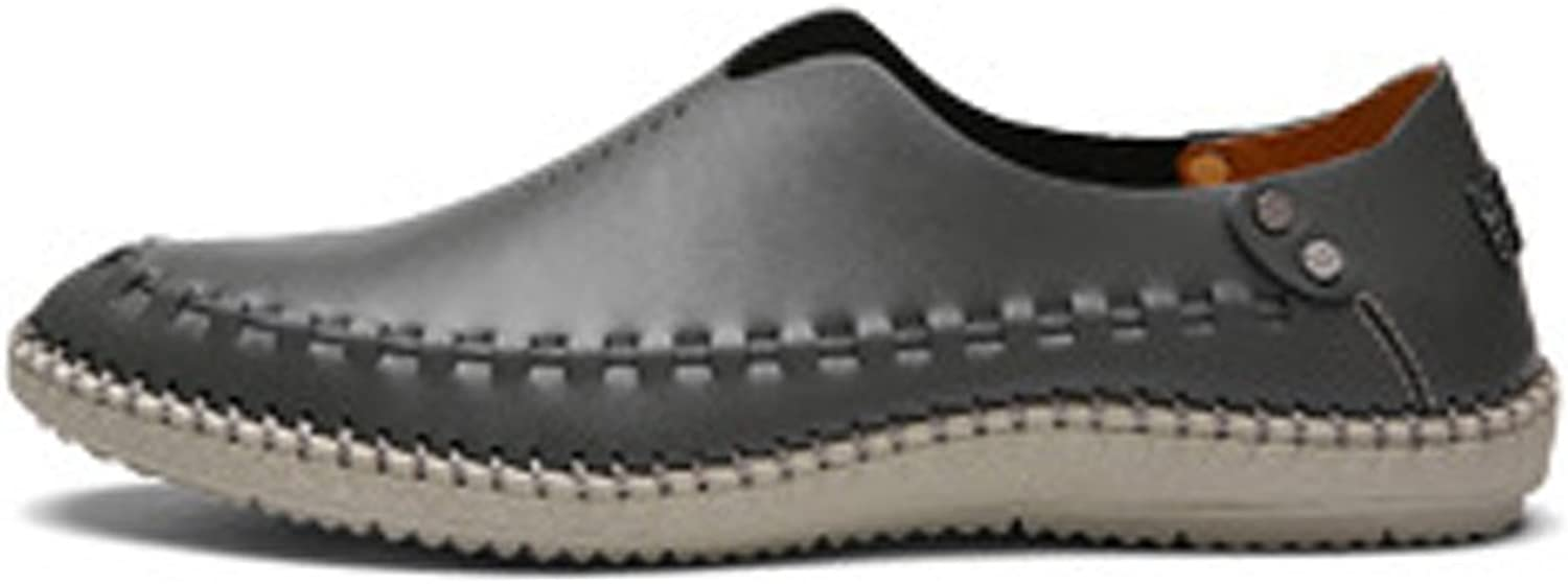 Z.L.F Men's Genuine Leather shoes Fashion Classic Slip-on Loafers Breathable Perforation Lined Oxfords shoes